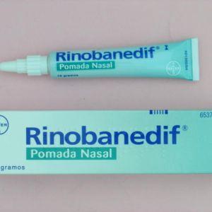 Rinobanedif (pomada nasal 10 g)