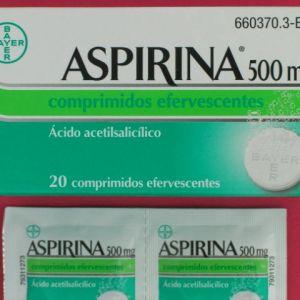 Aspirina (500 mg 20 comprimidos efervescentes)