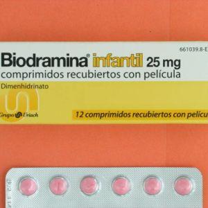Biodramina infantil (25 mg 12 comprimidos)