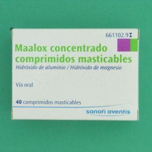 Maalox concentrado (600/300 mg 40 comprimidos masticables)