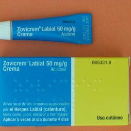 Zovicrem labial (5% crema 2 g tubo)