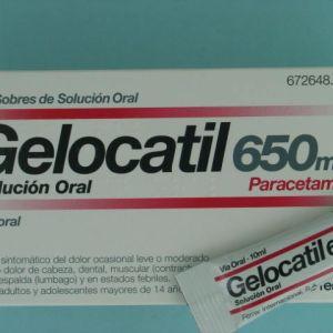 Gelocatil (650 mg 12 sobres solucion oral)