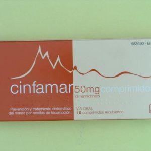 Cinfamar (50 mg 10 comprimidos recubiertos)