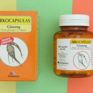 Arkocápsulas ginseng (300 mg 100 cápsulas)