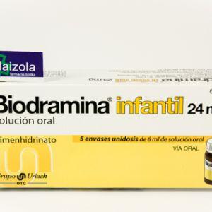 Biodramina infantil (24 mg solucion oral 5 monodosis 6 ml)