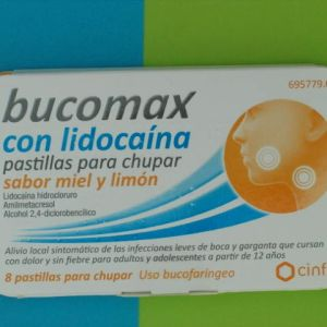 Bucomax lidocaina (8 pastillas para chupar limón)