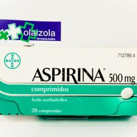 Aspirina (500 mg 20 comprimidos)