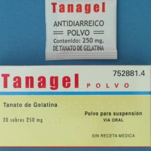 Tanagel papeles (250 mg 20 sobres)