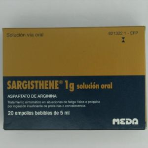 Sargisthene (1 g 20 ampollas bebibles 5 ml)