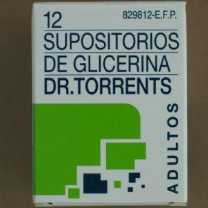 Supositorios glicerina dr torrents adultos (3.27 g 12 supositorios)