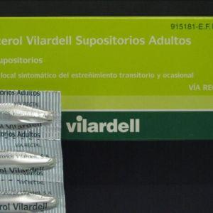 Supositorios glicerina vilardell adultos (12 supositorios)