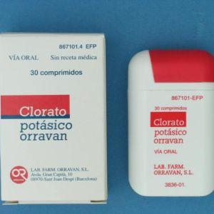Clorato potasico orravan (30 comprimidos para chupar)