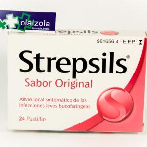 Strepsils (24 pastillas para chupar menta)