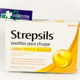Strepsils (24 pastillas para chupar miel-limon)