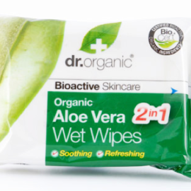 Dr. Organic Aloe Vera Wet Wipes 20Un.