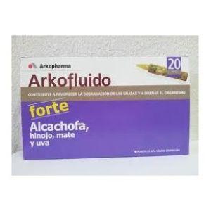 Arkopharma Alcachofa Forte hinojo mate y uva  20 ampollas