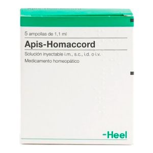 Apis-Homaccord 5 ampollas 1,1 ml Heel