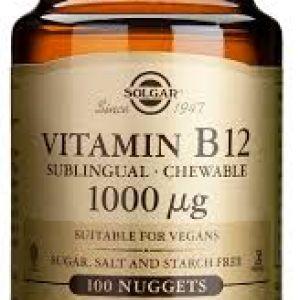 Solgar Vitamin B12 1000 mcg 100 comprimidos masticables
