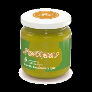 MamiSpoon Potito ecológico de Brócoli, Zanahoria y Apio 180g