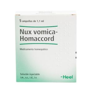 Nux vomica-Homaccord 5 ampollas 1,1 ml Heel