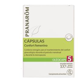PRANARÔM Oléocaps 5 - Confort femenino 30 cápsulas