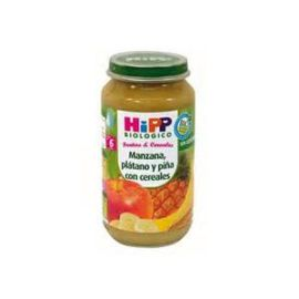Hipp Biológico Frutas y Cereales Manzana, plátano y piña con cereales 250 gr