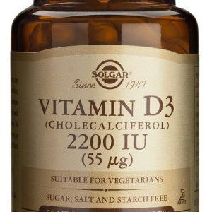 Solgar Vitamina D3 Colecalciferol 2200 UI (55 mcg) 50 cápsulas vegetales