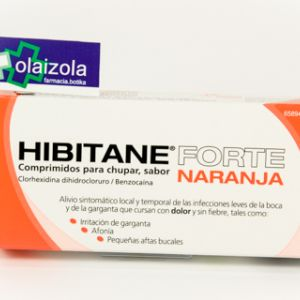 Hibitane forte (20 comprimidos para chupar naranja)