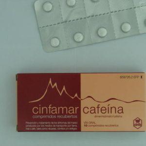 Cinfamar cafeina (50/50 mg 10 comprimidos)