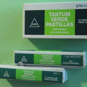Tantum verde (3 mg 20 pastillas para chupar menta)