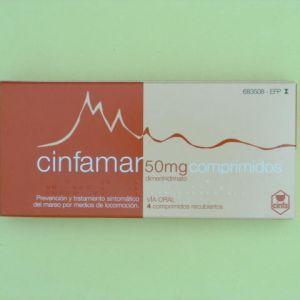 Cinfamar (50 mg 4 comprimidos recubiertos)