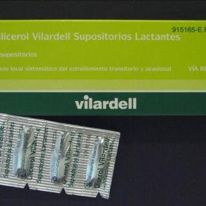 Supositorios glicerina vilardell lactantes (0.92 g 6 supositorios (blister))