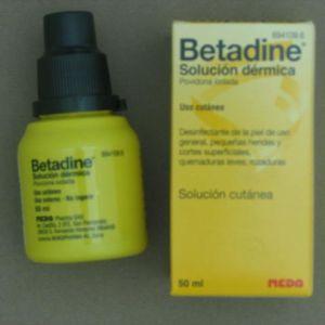 Betadine (10% solucion topica 1 frasco 50 ml)