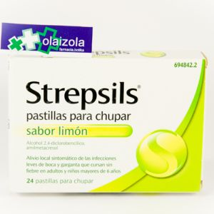 Strepsils (24 pastillas para chupar limon)