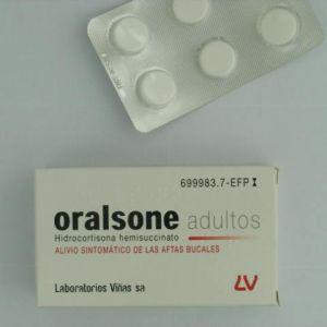 Oralsone adultos (2.5 mg 12 comprimidos para chupar)