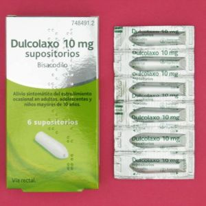 Dulcolaxo bisacodilo (10 mg 6 supositorios)