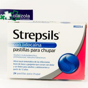 Strepsils lidocaina (24 pastillas para chupar)