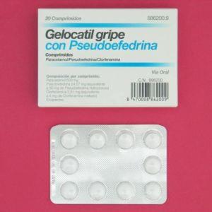 Gelocatil gripe pseudoefedrina (20 comprimidos)