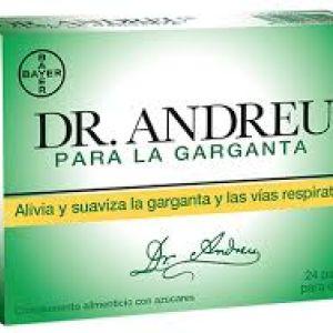Pastillas Dr Andreu para la garganta 24 pastillas para chupar
