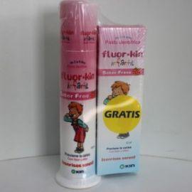 Fluor-kin infantil pasta sabor fresa 100 ml + regalo pasta sabor fresa 50 ml