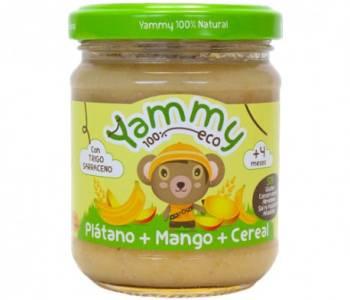 Tarrito de Plátano, Mango y Cereal