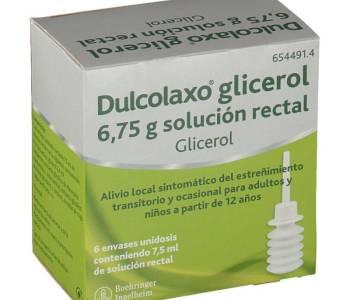 Dulcolaxo glicerol 6.75 g
