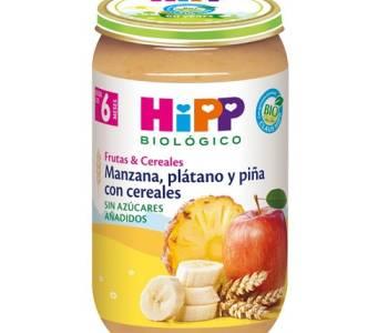 Frutas y Cereales Manzana, plátano y piña con cereales 250 gr