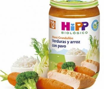 Potito verduras y arroz con pavo 250g