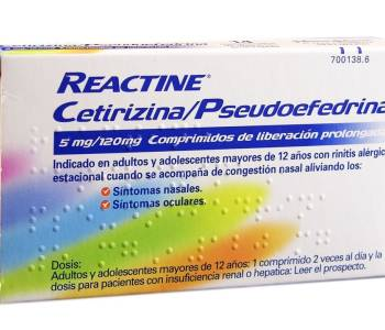 Reactine plus (5/120mg) 14 comp