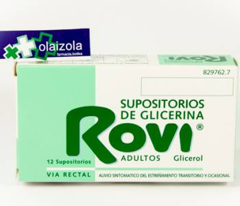 Supositorios glicerina rovi adultos (3.36 g)