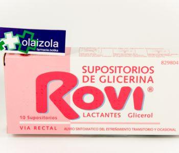 Supositorios glicerina rovi lactantes