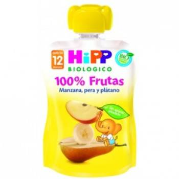 Pouche manzana, pera y plátano 100 g