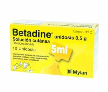 Betadine 5 ml.