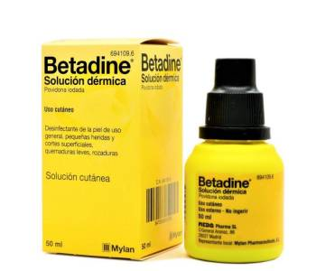 Betadine 100 mg/ml.
